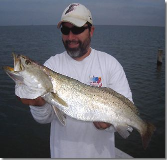 Very Nice Speckeld Trout Fishing Port O'Connr Texas With Captain John Frankson.