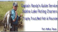 Captain Randy's Guide Service Fishing For Trophy Trout, Red Fish & Flounder, Fishing The Sabine Lake Area.
