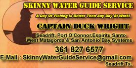 Captain Duck Wright has a 40 year History of fishing, 18 years of that, has been in the guiding business.Captain Duck is know for his ability to find fish.